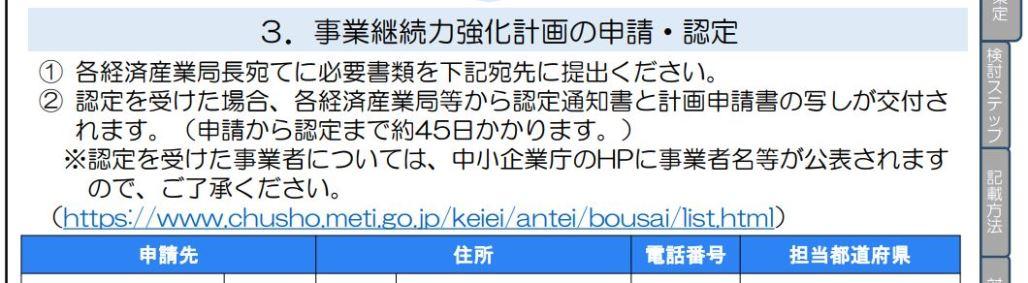 新版(令和2年6月15日版)の事業継続力強化計画策定の手引きでは、事業者名の公表が前提に変更になった